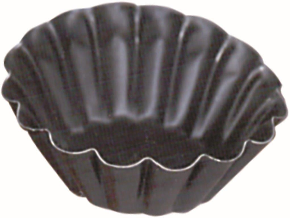 Forminha Redonda Crespa - 6 x 2.3 cm - C/12 Un. - Antiaderente