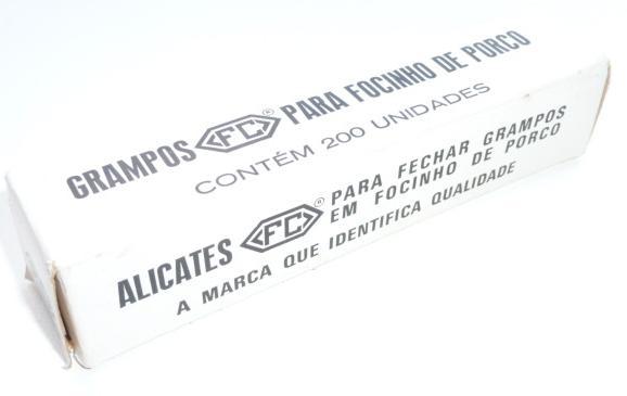 Grampo p/ Suínos - Caixa c/ 200 un