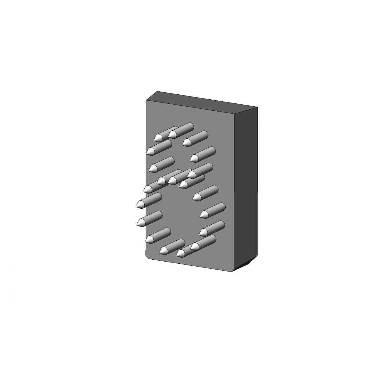 Jogo Número/Letra L17 x 24 (18 mm) - 5 Espaços