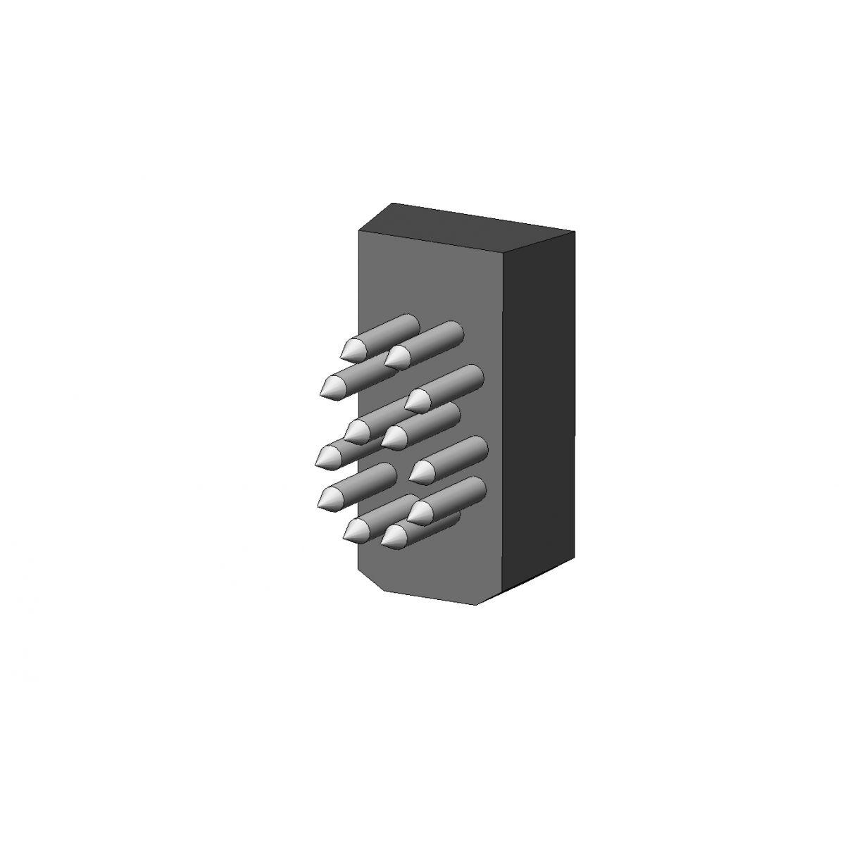 Jogo Números L10x17.5 (10mm) - 6 Espaços