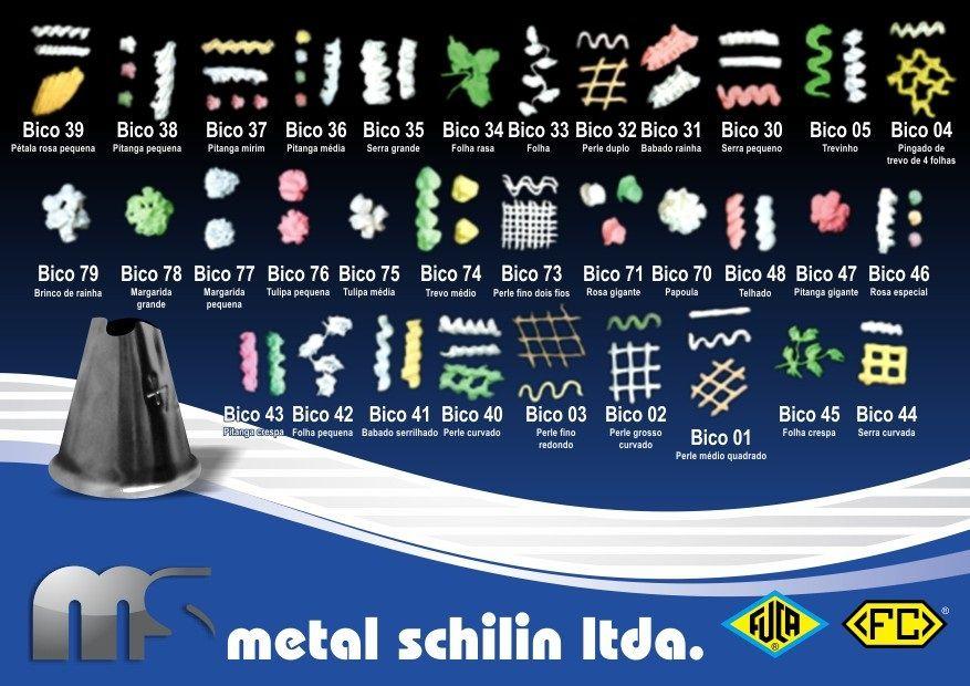 Seringa Plástica para decorar c/ 5 bicos metálicos