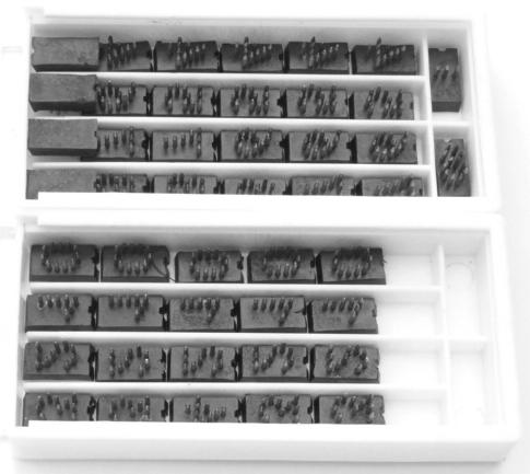 Cjto. Tatuadeira cabo plástico 5 espaços - 10mm - P18.5x9