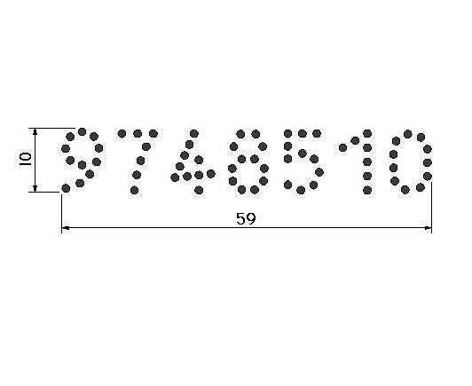 Conjunto. Tatuadeira cabo plástico 7 espaços - 10 mm - P18.5 x 9