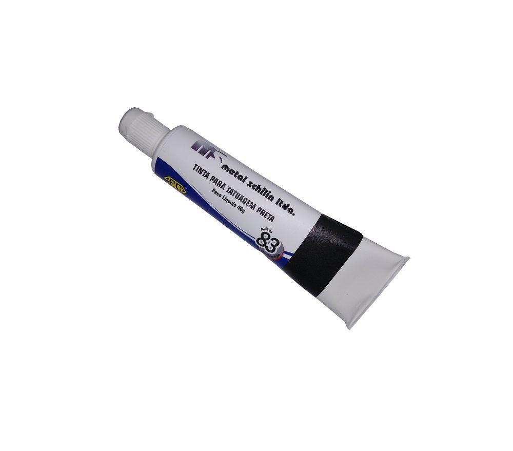 Tinta Tatuagem - Preta - 40 g