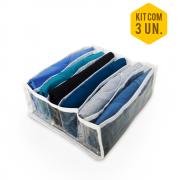 Colmeia Organizadora de Camiseta Br - Kit com 3 Peças