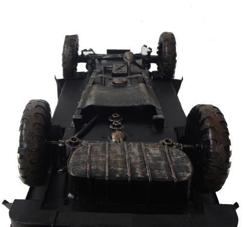 Jeep Vintage Militares Miniatura Veiculo Militar De Metal (CJ-004)