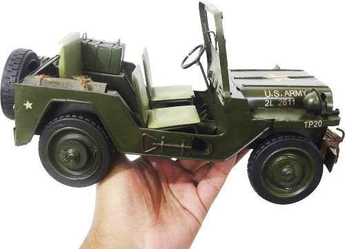 Jeep Vintage Retro Do Exercito Americano De Ferro Fundido (CJ-005)