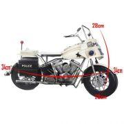 Moto Motocicleta Police Londres Vintage Retro De Metal (CJ-016)
