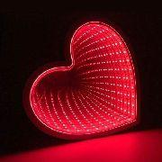 Luminaria 3d Coracao Infinito Led Espelho Luz Profundidade Quarto (QZ3803)
