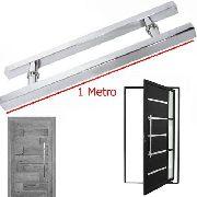 Puxador Porta Aco Inox 1 Metro Vidro Porta Pivotante Casa