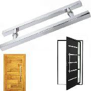 Puxador Porta Aco Inox 60cm Duplo Pivotante Porta Casa Vidro