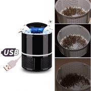 Armadilha Mata Mosquito Repelente Zika Dengue Eletrico Mosquiteiro LED UV Preto