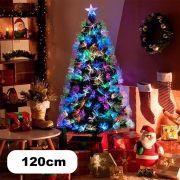 Arvore Natal Fibra Otica Pinheiro 120 Cm Decoraçao Natalina Verde 125 Galhos