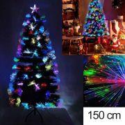 Arvore Natal Fibra Otica Pinheiro 150 Cm Decoraçao Natalina Verde 125 Galhos