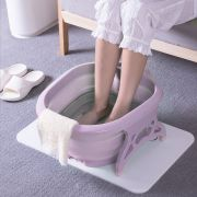 bacia dobravel banheira Massageador Para Pés pedicure Portátil spa relaxamento massagem banho ROXO