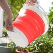 Balde Dobravel Silicone Retratil Agua 10 Litros Portatil Cozinha