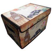 Bau Porta Treco Vintage Retro Guarda Volumes London Organizador Dobravel (PF-15)