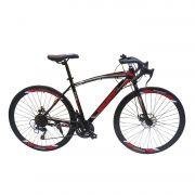 Bicicleta Bike Pneu Fino Speed Corrida 21 Marchas Shimano Aro 26 Freio Disco