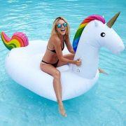 Boia Unicornio 1.65 Metros Inflavel Praia Flutuante Festa Lazer Piscina