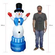 Boneco De Neve Inflavel Giratorio 1 metro 80 cm Enfeite de Natal Decoracao