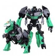 Boneco Transforme Dinossauro Robo Guerreiro Articulado Verde (DMT4693)