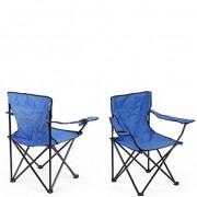 Cadeira Dobravel Braço Porta Copo Praia e Camping Pescaria Com Bolsa de Transporte Azul Claro (bsl-cad-1)