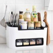 Caixa Organizadora Multiuso Cozinha Porta Temperos Talheres Faca Condimentos Especiarias