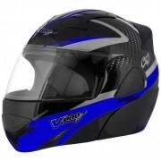 Capacete Moto Escamoteavel VPro Jet 2 Carbon Preto Acessorios Motocicleta