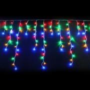 Cascata Pisca Pisca 160 Led De Natal Enfeite 8 Funçao 3,5m Colorido 127v (JA-81114)