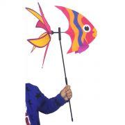 Catavento Modelo Peixe Rosa Para Jardim Casa Piscina Enfeite Criança 40cm (CATA-8)
