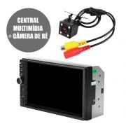 Central Multimidia 7'' Automotivo Camera Re Bluetooth Usb Radio 2 Din Espelhamento