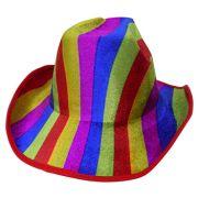 Chapeu Cowboy Kit Com 3 Colorido Festa Carnaval Baile Fantasia (BSL-2544-9)