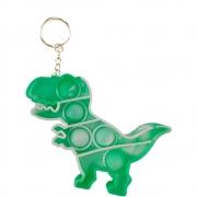 Chaveiro Fidget Pop It Dinossauro Alivia Estresse Ansiedade Sensorial
