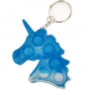 Chaveiro Fidget Toy Unicornio Pop It Alivia Estresse Relaxante Sensorial