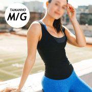 Cinta Camiseta Termica Queima Gordura Perde Peso Feminina Emagrecer Suor Neoprene
