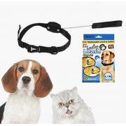 Coleira 2 Em 1 Retratil 1.20 Metros Cachorro Gato Pet Colar