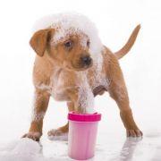 Copo Cachorro Limpador Limpa Patas Patinhas Pet Banho Higiene Rosa