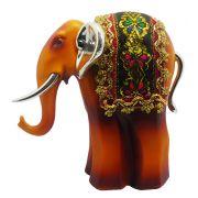Elefante Indiano Estatueta Para Enfeite e Decoraçao Laranja Avermelhado (5026)