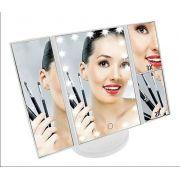 Espelho De Maquiagem 3 Lados Luz Led Touch Sala Estudio