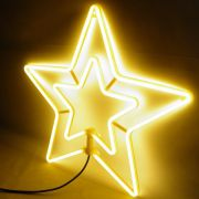Estrela Pisca Pisca Natal Neon Natalino Branco Quente 8 funcoes Decoracao