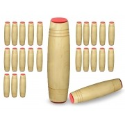 Fidget Mokuru Stick Bastao Roller Anti Stress Madeira Kit com 25 Unidades (bsl-gira-4 mokuru kit-25)