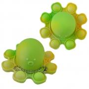 Fidget Toy Pop It Polvo Chaveiro KIT 2 Uni Alivia Estresse Ansiedade Relaxante Mental
