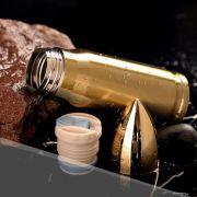 Garrafa Termica Inox 500ml Bala Muniçao Projetil Capsula Bullet Dourada