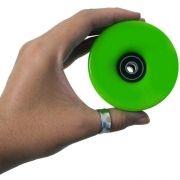 Kit 4 Rodas Skate com Rolamento 60mm Longboard Esporte Abec 11 Verde (RA-H)