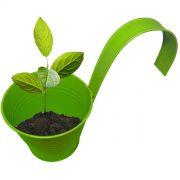 Kit 4 Unid Cachepot De Metal Para Jardim Vertical Suspenso Flor Planta Cor Verde (CACHEPO-1)