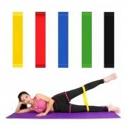 Kit 5 Faixas Elasticas Mini Band Academia em Casa Extensor Exercicios Yoga Pilates Fitness Crossfit