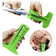 Kit 6 Un. Escova Dentes Canina Mordedor Cachorro Limpeza Cao Pet Remove Tartaro