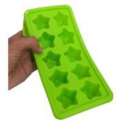 Kit Com 2 Formas De Gelo Estilo Estrela Para Cozinha Em Silicone Verde (sili-20)