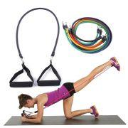 Kit Elasticos Fitness Funcional Tubing Treino Extensores