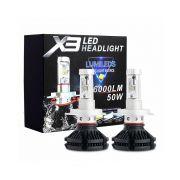 Kit Lampadas Led 3 Cores Carro Farol H7 Resistente Agua Automotivo